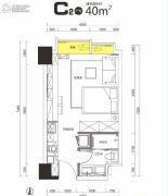广晟・江山帝景1室1厅1卫40平方米户型图