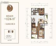 金汇苑3室2厅2卫126平方米户型图