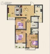 中纺佳苑・颐和铭郡3室2厅2卫130平方米户型图
