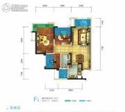 世豪金河谷5期3室2厅1卫76平方米户型图