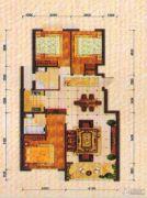 东方夏威夷3室2厅2卫128平方米户型图