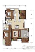 影人四季花园3室2厅2卫157平方米户型图