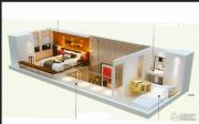 中房汇达广场2室1厅1卫65平方米户型图