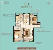 恒基水榭华城3室2厅2卫116平方米户型图