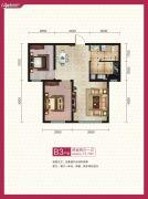 和�d雅轩2室2厅1卫72平方米户型图