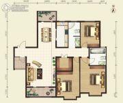 昕泰大观3室2厅2卫167平方米户型图