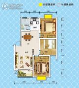 锦绣御珑湾3室2厅1卫98平方米户型图