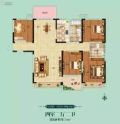 阳光福园4室2厅2卫175平方米户型图