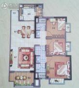 万科华府3室2厅2卫0平方米户型图