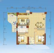 海岸国际假日花园2室2厅0卫87平方米户型图