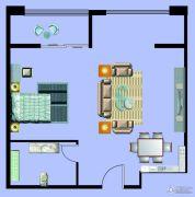 尚元公馆1室1厅1卫81平方米户型图