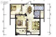 广厦名都2室2厅1卫88平方米户型图