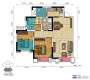 三盛都会城3室2厅1卫83--92平方米户型图