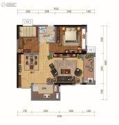 碧桂园・天汇2室2厅1卫84平方米户型图