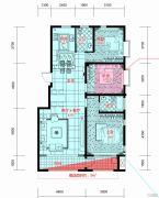 紫园3室2厅2卫132平方米户型图