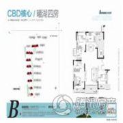 建业十八城5期山水湖城4室2厅2卫140平方米户型图