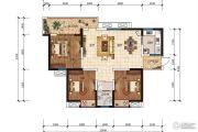 五和城南新天地3室2厅1卫97平方米户型图