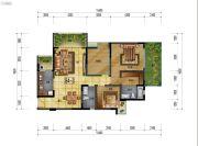 万象国际城2室2厅2卫114平方米户型图