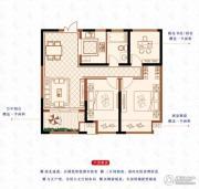 绿洲白马公馆3室2厅1卫88平方米户型图