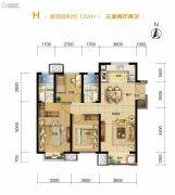 路劲隽澜湾3室2厅2卫122平方米户型图