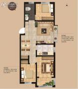 荣安・昭阳小镇3室2厅1卫95平方米户型图