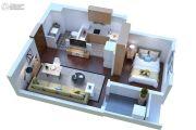 康桥溪公馆1室1厅1卫51平方米户型图