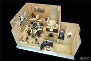 远洋国际中心1室1厅1卫74平方米户型图