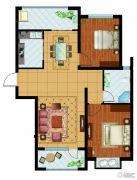 东胜紫御府2室2厅1卫100平方米户型图