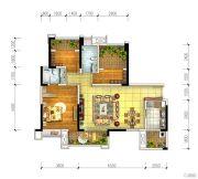 宏创・龙湾半岛3室2厅2卫104平方米户型图