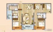 朗诗天萃3室2厅2卫120平方米户型图
