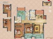 弘阳上湖2室2厅2卫117平方米户型图