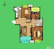 荣盛花语城3室2厅1卫91平方米户型图