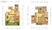 天朗大兴郡3室2厅2卫139平方米户型图