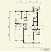 广渠金茂府4室2厅3卫282平方米户型图