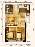城关江南明珠3室2厅2卫104平方米户型图