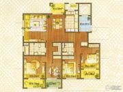 朗诗绿色街区4室2厅2卫142平方米户型图