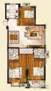 山水华庭3室2厅2卫108--111平方米户型图