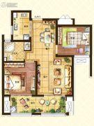 济南世茂天城2室2厅1卫82平方米户型图