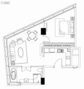 狮山中心1室1厅1卫0平方米户型图