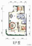 三江国际花园2室2厅1卫132平方米户型图