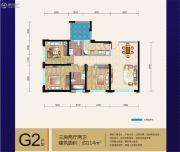 七彩云南第壹城3室2厅2卫114平方米户型图