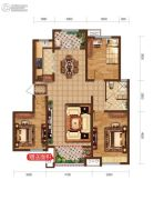 润德天悦城3室2厅1卫118平方米户型图