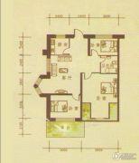 月潭壹英里3室1厅1卫86平方米户型图