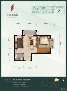 汇福悦榕湾1室1厅1卫49平方米户型图