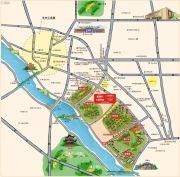 中国铁建领秀城交通图
