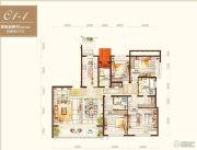 绿地海外滩4室2厅3卫207平方米户型图
