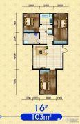 建发・观澜丽景3室2厅1卫103平方米户型图