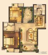 城置御水华庭2室2厅1卫84平方米户型图