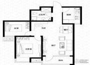 亿科公元20102室2厅1卫87平方米户型图