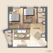 开封国际金融中心2室2厅1卫97平方米户型图